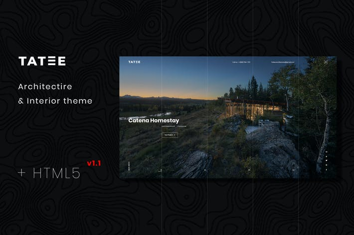 Thumbnail for Tatee - Architecture and Building HTML5 Template
