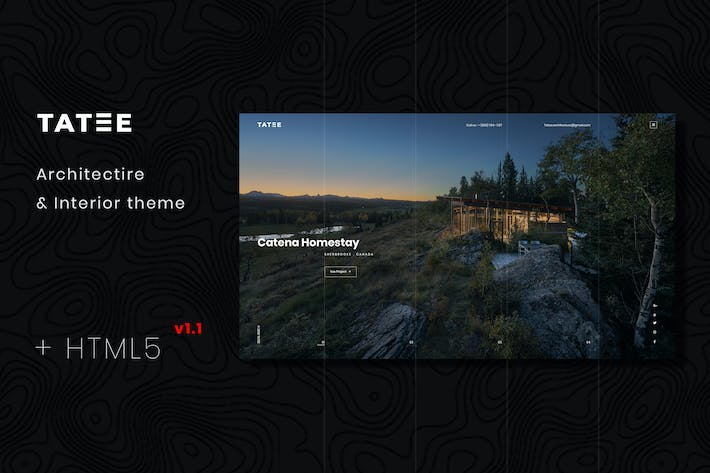 Cover Image For Tatee - Architecture and Building HTML5 Template