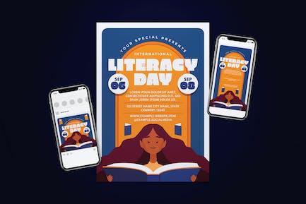 International Literacy Day Flyer Set