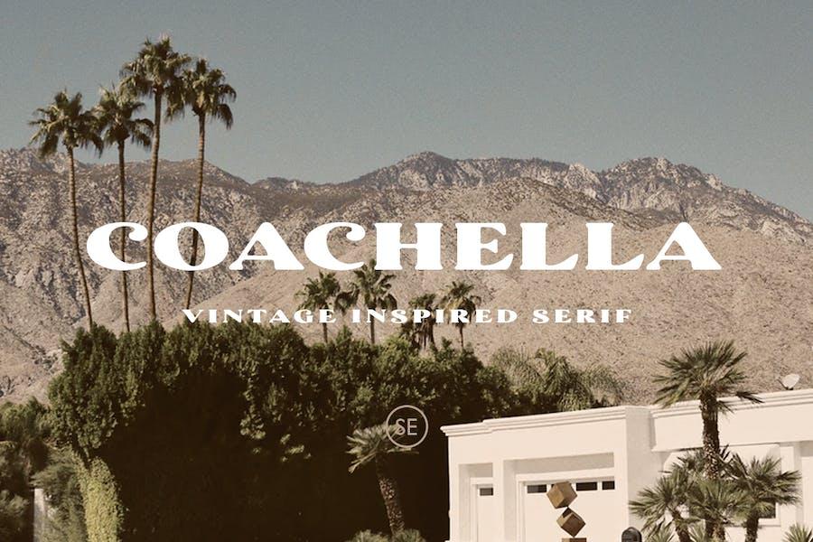 Coachella - Con serifa inspirado en la vendimia