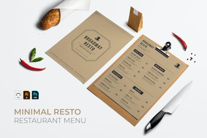 Thumbnail for Minimaliste | Menu du Restaurant