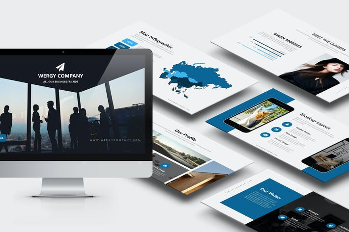 Cover Image For Wergy : Modern Corporate Profile Powerpoint