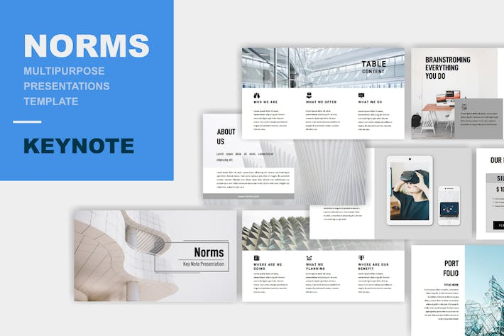 Thumbnail for Norms - Multipurpose Keynote Template