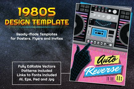 1980s Music Themed Design Template