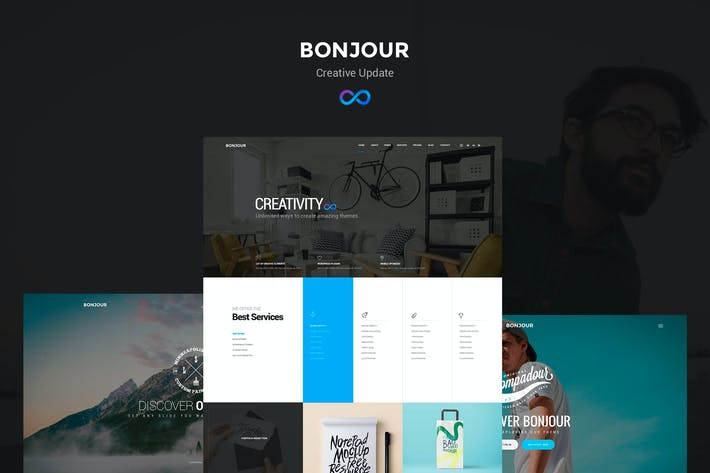 Thumbnail for Bonjour - Creative Multi-Concept PSD Template
