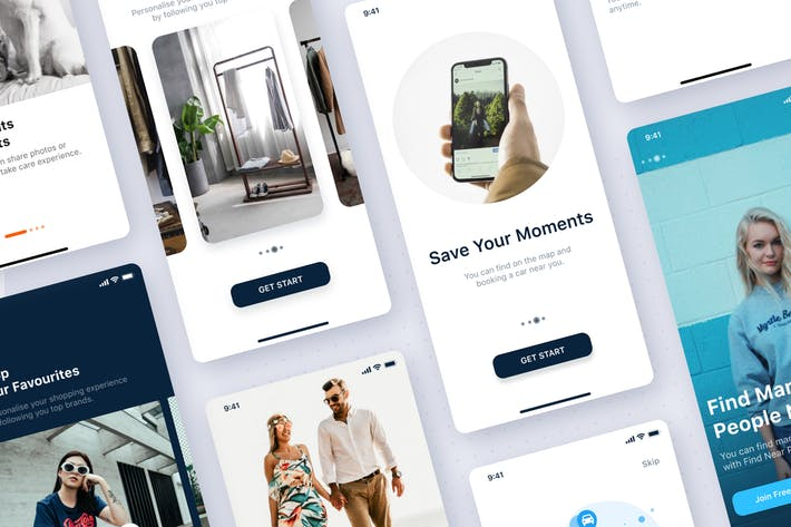 Thumbnail for On-boarding mobile UI Concept
