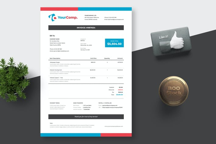 Invoice Template 01
