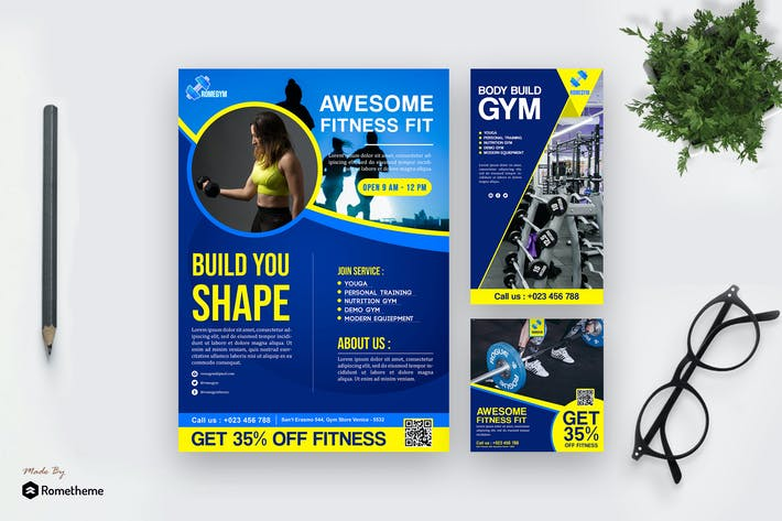 Thumbnail for Fitness - Modern Template Pack