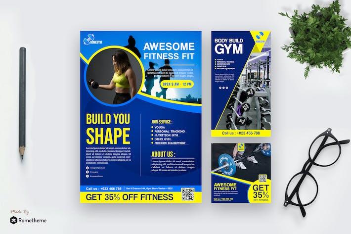 Thumbnail for Fitness - Modern Template Pack HR
