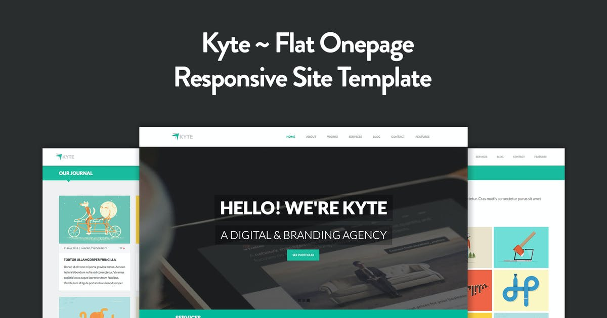 Kyte - Flat Onepage Responsive HTML5 Template by elemis