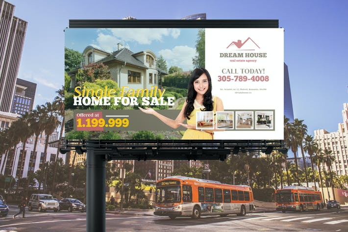 Cover Image For Real Estate Billboard Banner Template