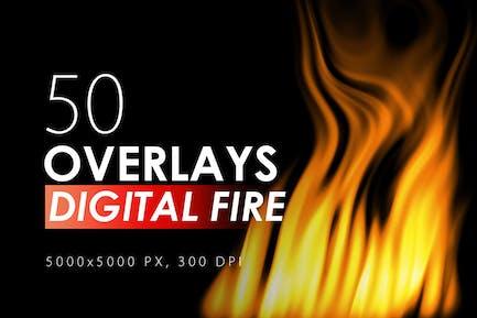 50 Digital Fire Overlays