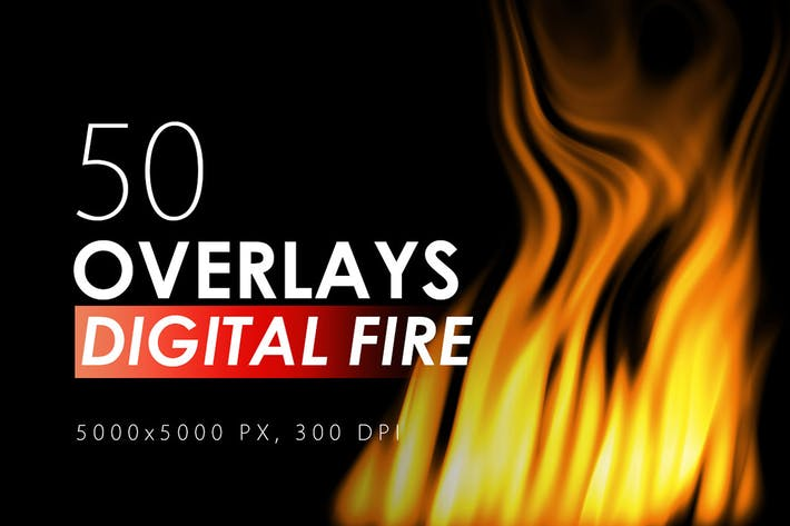 Thumbnail for 50 Digital Fire Overlays