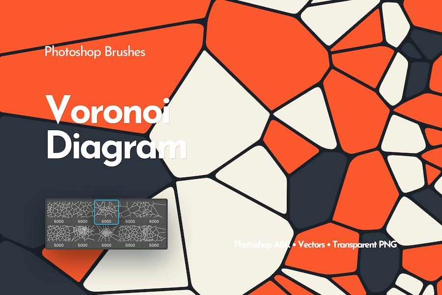 Voronoi Diagram Photoshop Brushes