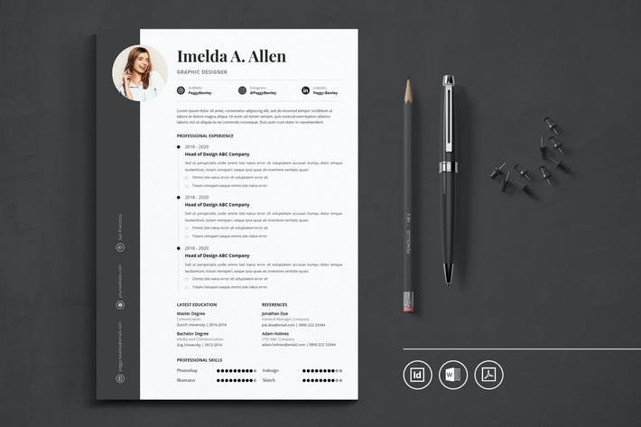 Thumbnail for Professional CV Resume Indesign Template Vol.25