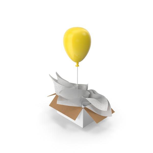 Yellow Balloon Gift Box