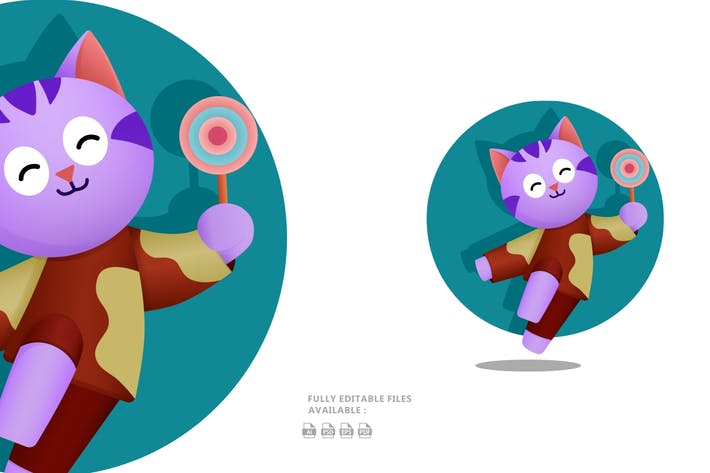 Thumbnail for Happy Cat Illustration