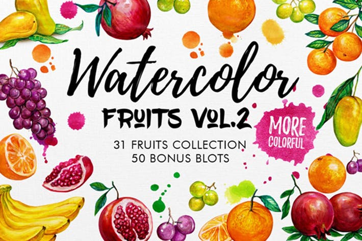 Thumbnail for Watercolor Fruits Vol. 2