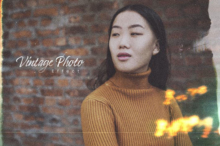 Thumbnail for Vintage Photo Effect Mockup