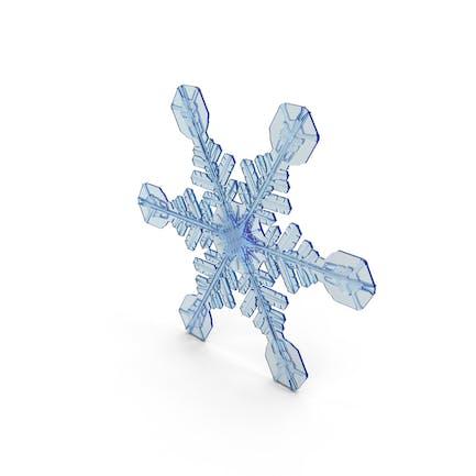 Снежинка темно-синий