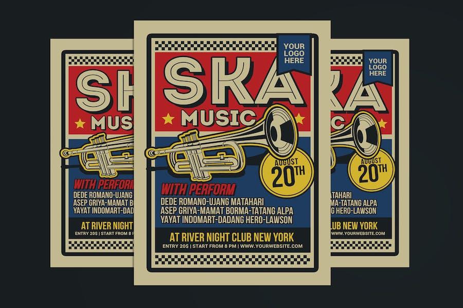Ska Music Flyer