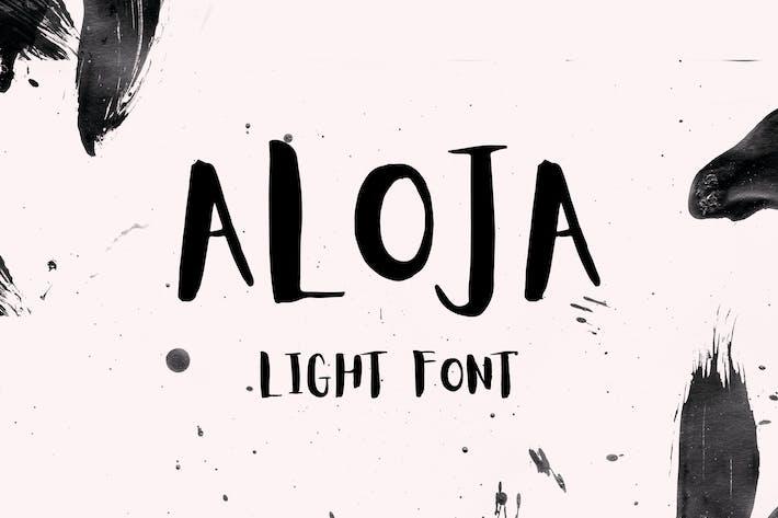 Thumbnail for Aloja Light Font