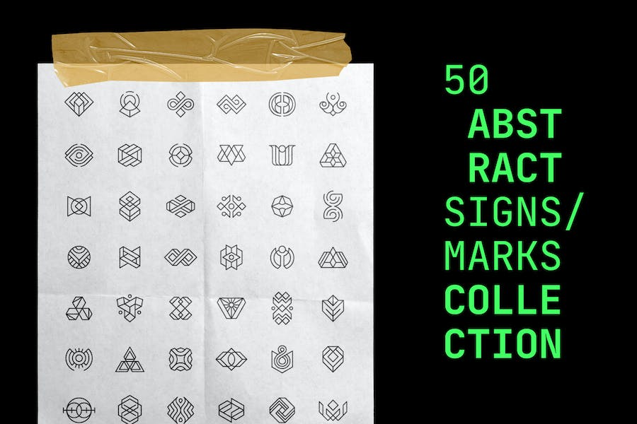 50 Abstract Logos / Signs / Marks Collection