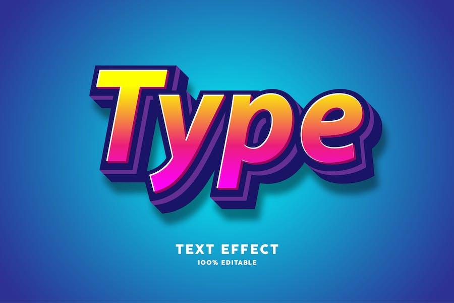 Strong bold modern text effect