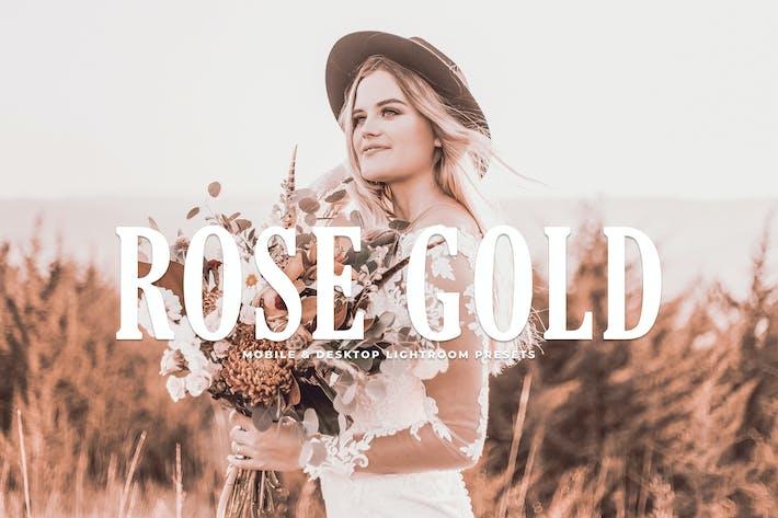 Cover Image For Rose Gold Mobile & Desktop Lightroom Presets