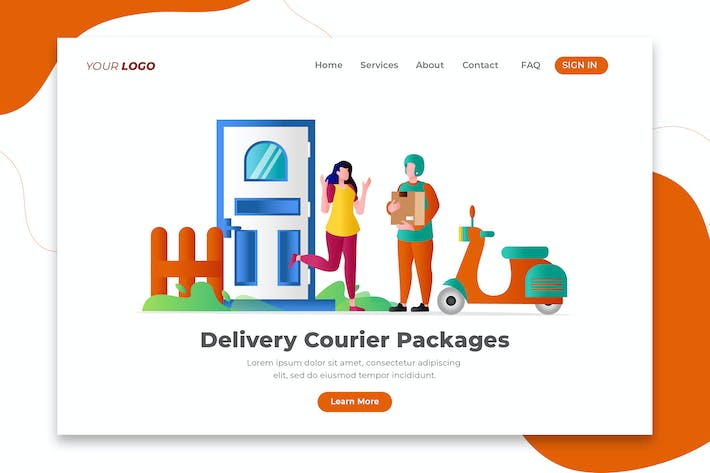 Thumbnail for Delivery Courier Packages - Landing Page