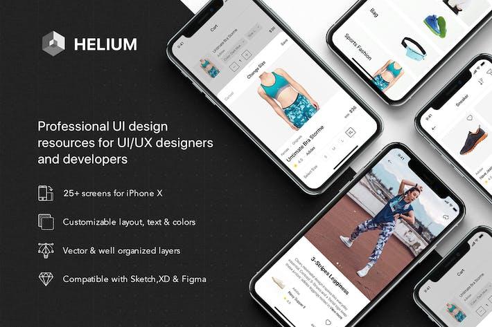 Thumbnail for Helium - Fashion Shop UI Kit
