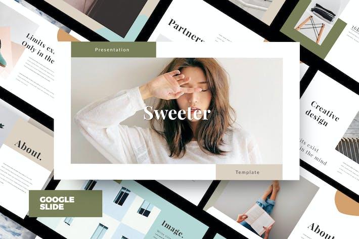 SWEETER. - Minimal Creative Google Slide