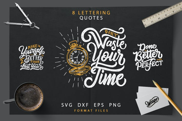 Thumbnail for Lettering Motivational Quotes  SVG Bundle
