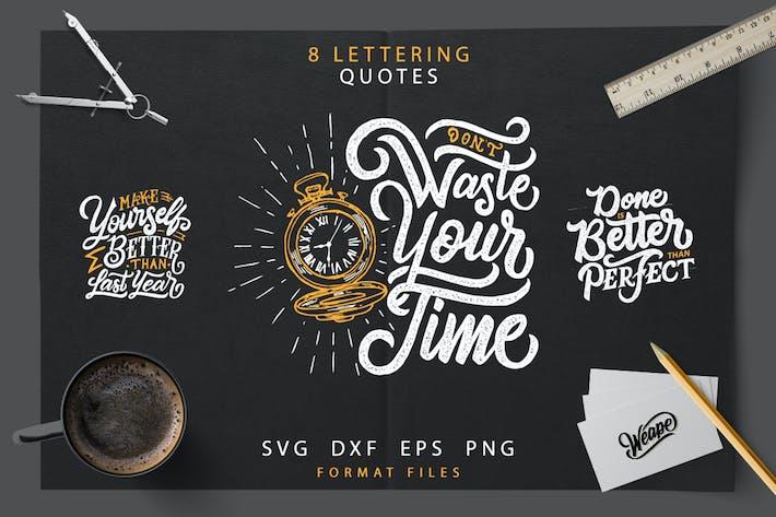 Cover Image For Lettering Motivational Quotes  SVG Bundle