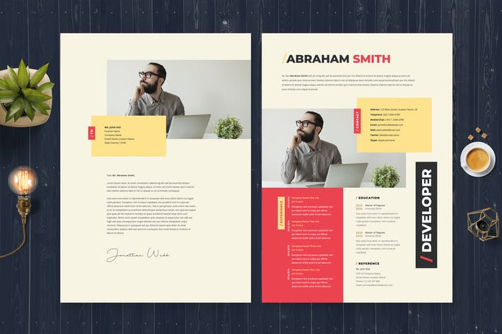 Thumbnail for Minimalis Resume / CV Template 24