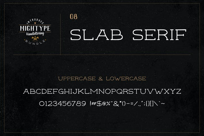 Thumbnail for Mightype 08 - Slab Serif