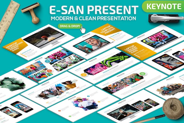 Thumbnail for E-San Powerpoint Presentation Template