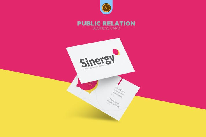 Thumbnail for Public Relations Business Card 05