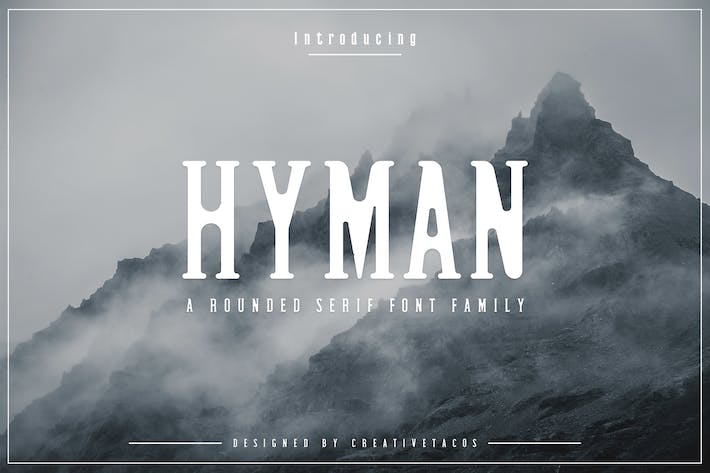 Thumbnail for Hyman Rounded Serif Font Family