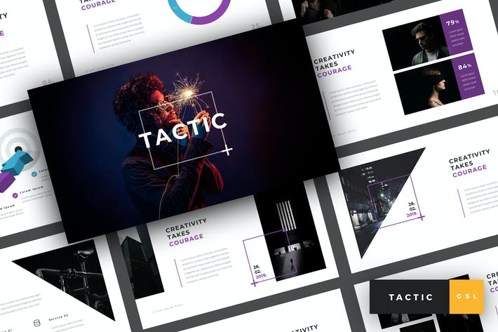 Cover Image For Tactic - Creative Google Slides Template