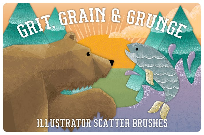 Thumbnail for Grit, Grunge & Grain Scatter Brushes