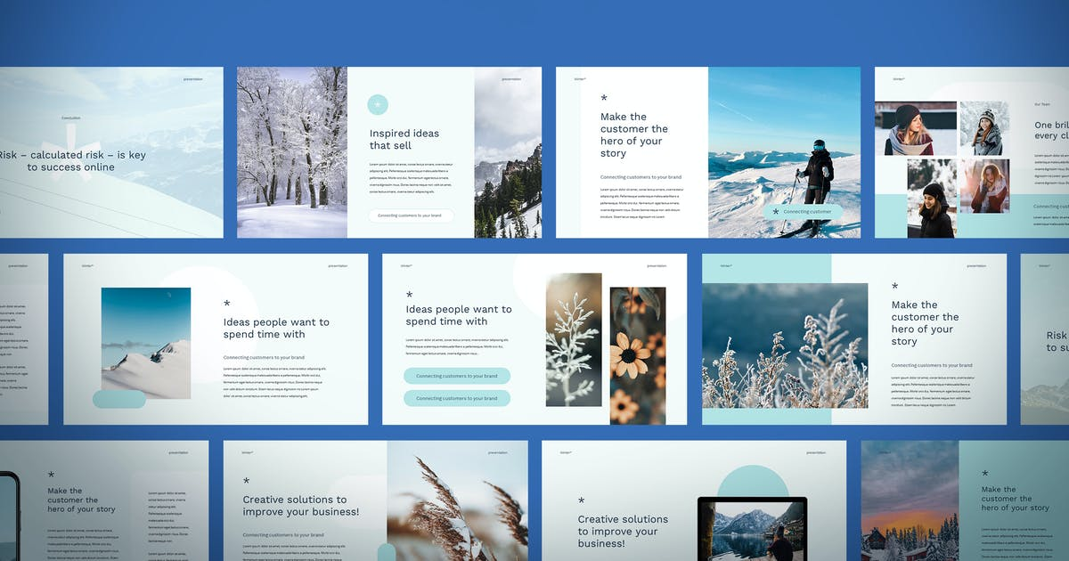 Download Winter - Keynote Template by Slidehack