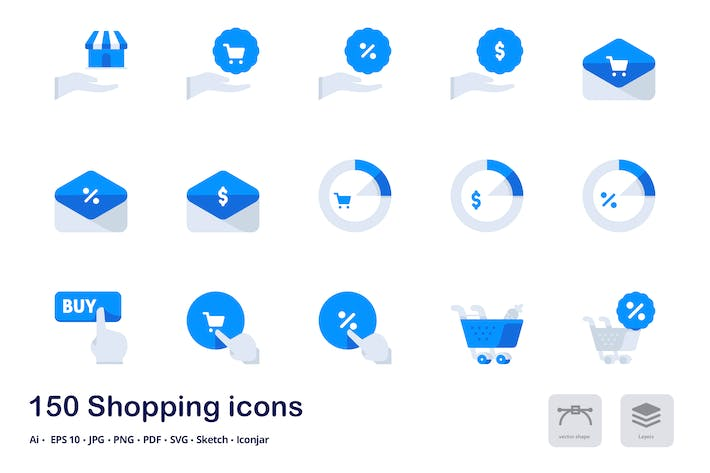 Thumbnail for Shopping and E-commerce Accent Duo Tone Icons