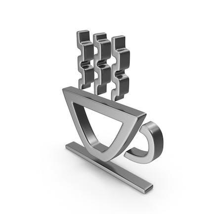 Heißes Cup-Symbol Silber