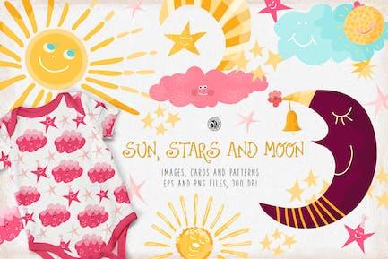 Sun, Stars and Moon
