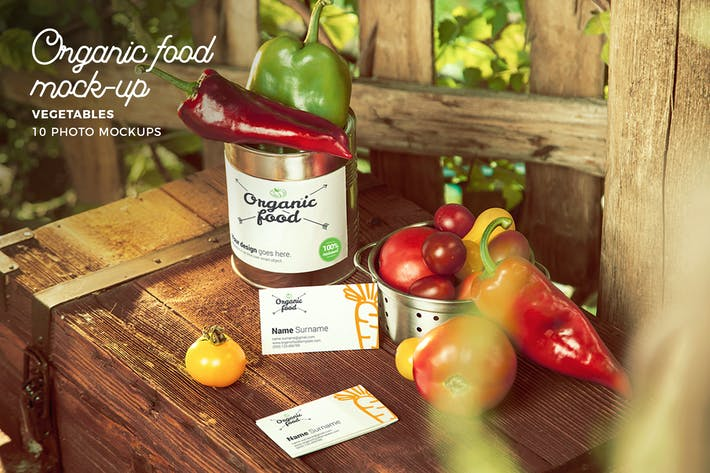 Thumbnail for Organic Food Photo Mockup / Vegetables