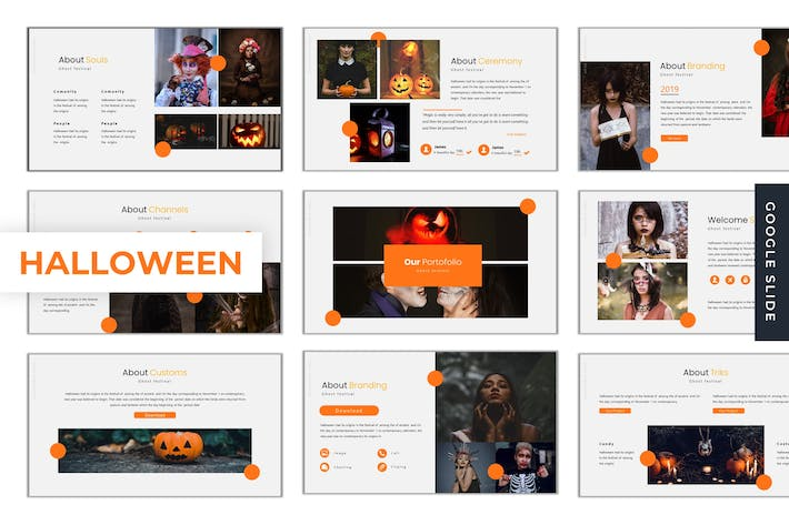 Thumbnail for Halloween - Google Slide Template