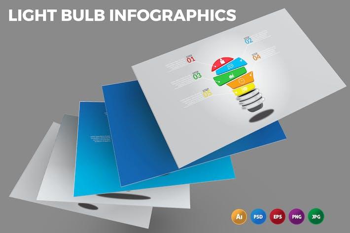 Thumbnail for Light Bulb – Infographics Design
