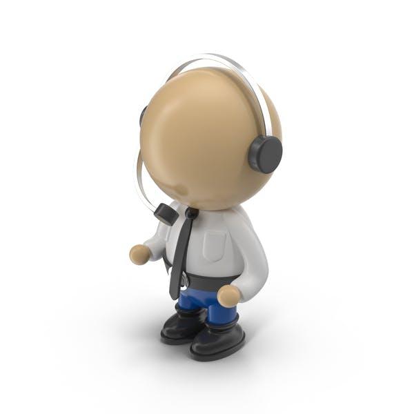 Cartoon Operator Character