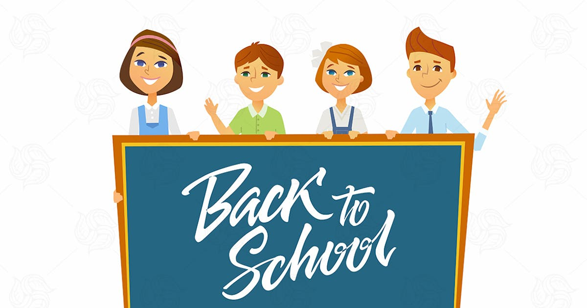 Back to school - cartoon people characters by BoykoPictures